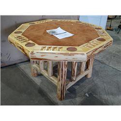RUSH CREEK CREATIONS WOOD POKER TABLE