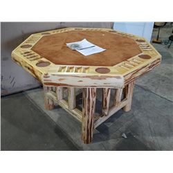 RUSH CREEK CREATIONS WOOD POKER TABLE