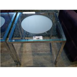 GLASS & METAL SIDE TABLE