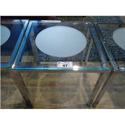 GLASS & METAL SIDE TABLE