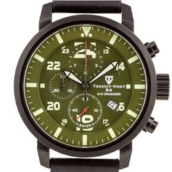 Tschuy-Vogt Crusader Mens Swiss Chronograph Watch