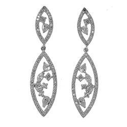 Sterling Silver Cubic Zirconia Drop Earrings