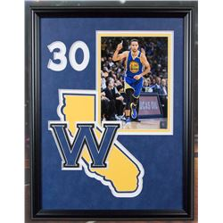 Stephen Curry Golden Warriors 20x16 framed unsigned