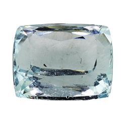 5.79 ct.Natural Cushion Cut Aquamarine