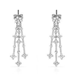 14k White Gold 0.50CTW Diamond Earrings, (I1-I2/G-H)