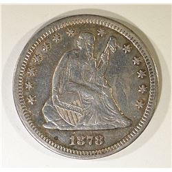 1878-CC SEATED LIBERTY QUARTER, AU