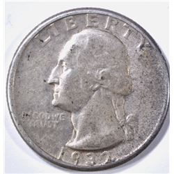 1932-D WASHINGTON QUARTER, XF