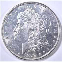 1878 8TF MORGAN DOLLAR CH BU