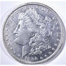 1892-O MORGAN DOLLAR, XF/AU