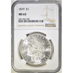 1879 MORGAN DOLLAR, NGC MS-63