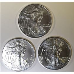 3-GEM BU 2011 AMERICAN SILVER EAGLES