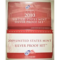 2009 & 2010 U.S. SILVER PROOF SETS