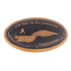 Star Trek: The Next Generation Season Seven Crew Plaque