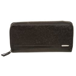 Bvlgari Black Grained Leather Organizer Wallet