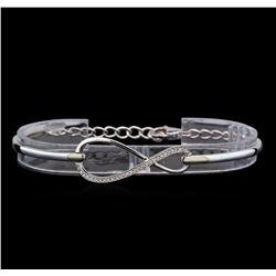 0.37 ctw Diamond Bracelet - 14KT White Gold