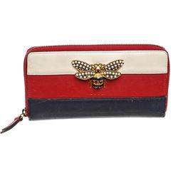 Gucci Multicolor Queen Margaret Bee Zippy Wallet