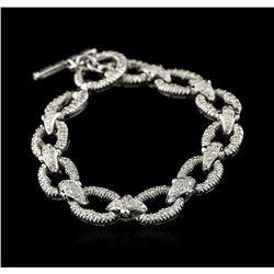 18KT White Gold 2.64 ctw Diamond Bracelet