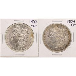 Lot of 1902-O & 1904-O $1 Morgan Silver Dollar Coins