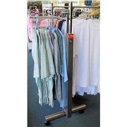 Metal Adjustable 2-Rack Clothing Display on Wheels (fixture only)