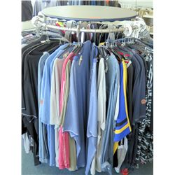 Round Retail Garment Rack on Wheels  (fixture only)