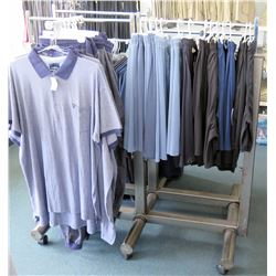 Metal Adjustable 3-Rack Clothing Display on Wheels (fixture only)
