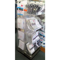 Stationary 2-Sided 4-Tier Plastic Shelf Display Unit (fixture only)