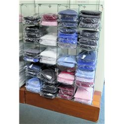Stationary 5-Tier 20 Compartment Glass Shelf Display Unit (fixture only)