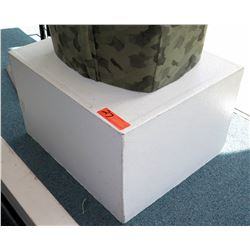 Square White Laminate Display Block Pedestal