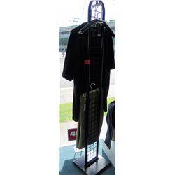 Tall Oval Black Metal Wire Freestanding Clothing Display (fixture only)