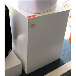 Tall White Laminate Display Block Pedestal