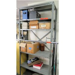 Metal Adjustable Shelf & Contents - Toolbox, 2-Way Holders, etc