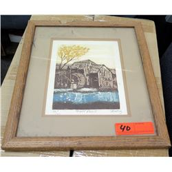 Mill Pond Framed Limited Edition 13/150 Signed by Skip Helling