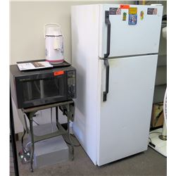 Full Size Refrigerator Freezer Unit, Sharp Carousel Microwave, etc