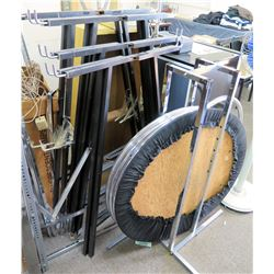 Multiple Metal Adjustable Racks Clothing Display & Round