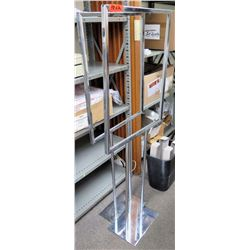 Qty 2 Stainless Steel Stationary Easel Signage Displays