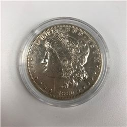 1880 Morgan Silver Dollar Counterstamped