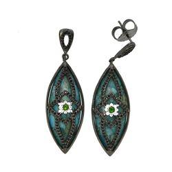 Sterling Silver Turquoise & Multi Gemstone Earring