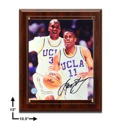Tyus Edney UCLA 10.5x13 Signed Plaque 8x10v GFA