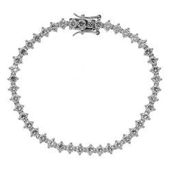 "Sterling Silver Tennis Bracelet 7.25"""