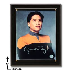 Garrett Wang Star Trek:10.5x13 Black Plaque Signed 8x10v GFA