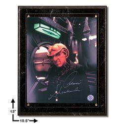 Armin Shimmerman Star Trek:10.5x13 Marbel Plaque Signed 8x10v GFA