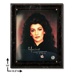 Marina Sirtis Star Trek:10.5x13 Marbel Plaque Signed 8x10v GFA