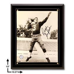 Ralph Guglielmi Redskins 10.5x13 Black Plaque Signed