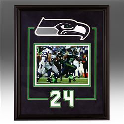 Marshawn Lynch Seattle Seahawks Frame unsigned
