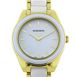 Rousseau Elegant Enamel Insert Link Ladies Watch