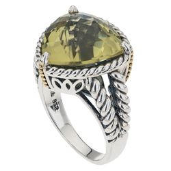 Sterling Silver Ouro Verde Rope Detail Ring-SZ 6