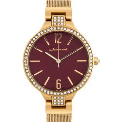 Luxury Crystal Bezel Mesh Band Ladies Watch