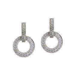 Simulated Diamond Circular Pavé Earrings
