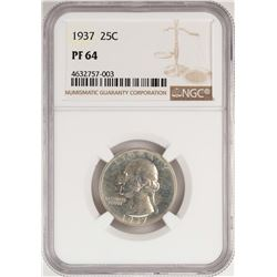 1937 Proof Washington Quarter Coin NGC PF64