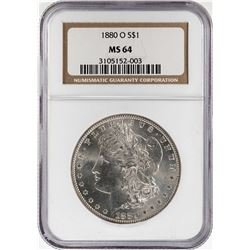 1880-O $1 Morgan Silver Dollar Coin NGC MS64